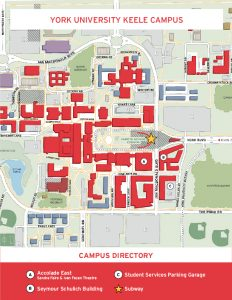 York University Keele Map